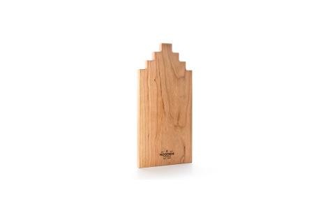 Wooden Amsterdam houten serveerplanken   In de vorm van een grachtenpand Cherry 40 cm