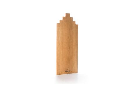 Wooden Amsterdam houten serveerplanken   In de vorm van een grachtenpand Oak 50 cm