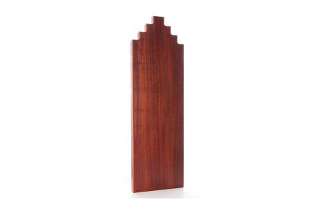 Wooden Amsterdam houten serveerplanken   In de vorm van een grachtenpand Padouk 60 cm