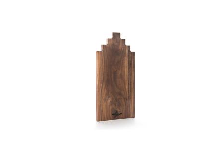 Wooden Amsterdam houten serveerplanken   In de vorm van een grachtenpand Walnut 40 cm
