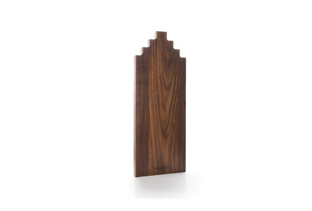 Wooden Amsterdam houten serveerplanken   In de vorm van een grachtenpand Walnut 50 cm