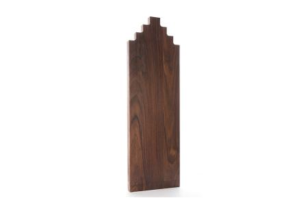 Wooden Amsterdam houten serveerplanken   In de vorm van een grachtenpand Walnut 60 cm