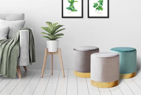 Lifa Living poefjes Belle & Beau | Stijlvolle fluwelen poefs voor een trendy interieur