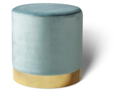 Lifa Living poefjes Belle & Beau | Stijlvolle fluwelen poefs voor een trendy interieur beau - groen