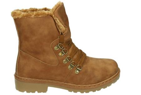 Gevoerde schoenen sale | Elke werkdag lagere prijzen, maar wees op tijd | OP=OP ZY9103 camel