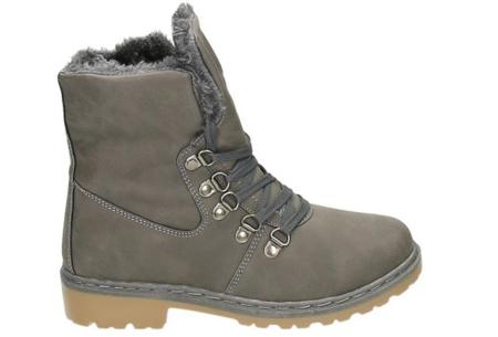 Gevoerde schoenen sale | Elke werkdag lagere prijzen, maar wees op tijd | OP=OP ZY9103 grijs