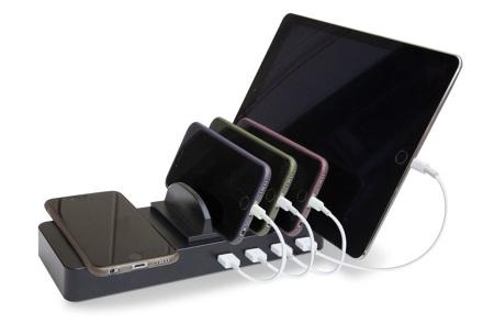 Soundlogic Qi oplaadstation met 4 USB-poorten | Meerdere apparaten tegelijk opladen op één punt