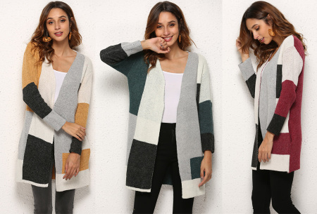 Colorblock dames vest - nu in de sale