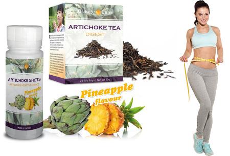 Orange Care artichoke shots en/of artichoke thee | Biedt ondersteuning bij gewichtsverlies