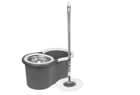 Cenocco roterende dweil | Automatisch wringen dankzij 360° draaisysteem! antraciet