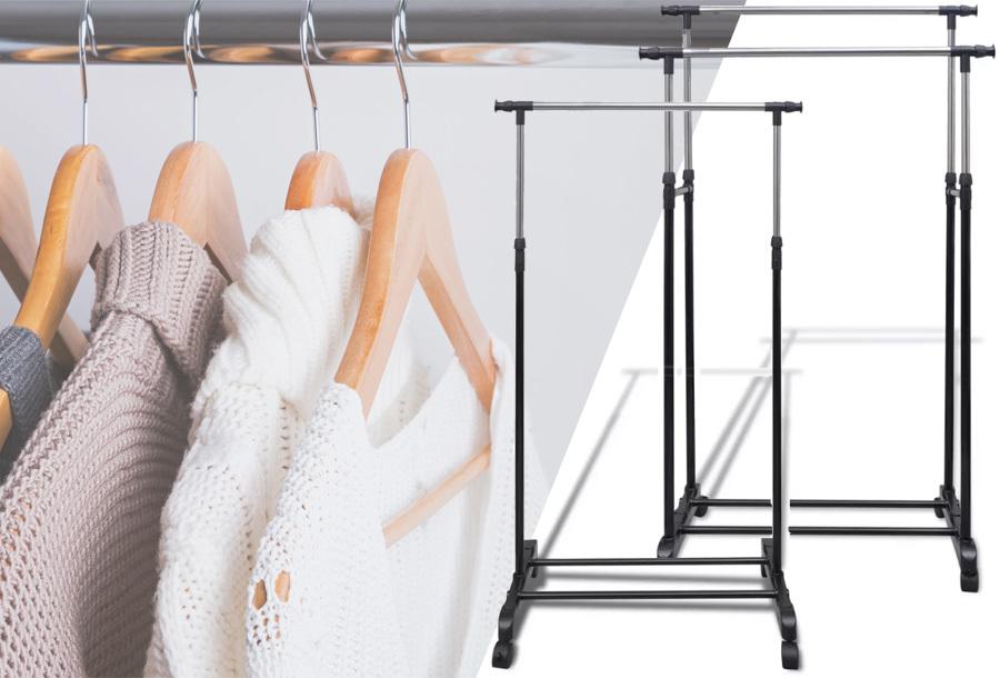 28% korting - Verstelbaar kledingrek