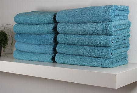 Handdoeken en badhanddoeken hotelkwaliteit 100% katoen | 3-pack | Met oplopende korting! Denim blauw