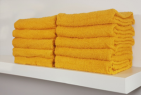 Handdoeken en badhanddoeken hotelkwaliteit 100% katoen | 3-pack | Met oplopende korting! Okergeel