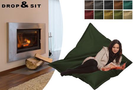 Drop & Sit velvet zitzak | Prachtige fluwelen stof - Keuze uit 10 kleuren en 2 afmetingen