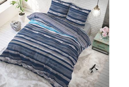 Dekbedovertrekken van Sleeptime | Keuze uit diverse prints & maten  Quincy - blauw