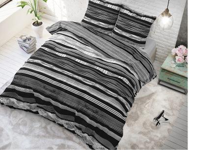 Dekbedovertrekken van Sleeptime | Keuze uit diverse prints & maten  Quincy - zwart