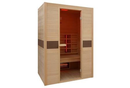 Interline sauna | Keuze uit 4 modellen infrarood sauna's Ruby 2-persoon
