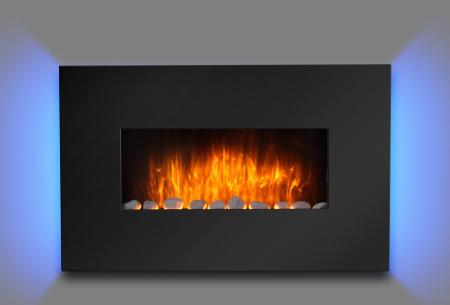 Moa elektrische sfeerhaard in 5 uitvoeringen | Breng sfeer en warmte in je interieur! Zwart Ambiante Light