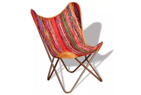 Lederen vlinderstoel | Keuze uit 5 kleuren Mulitcolor