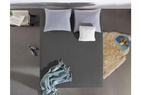 Dreamhouse hoeslakens | 100% hoogwaardig glad katoen in 6 kleuren antraciet