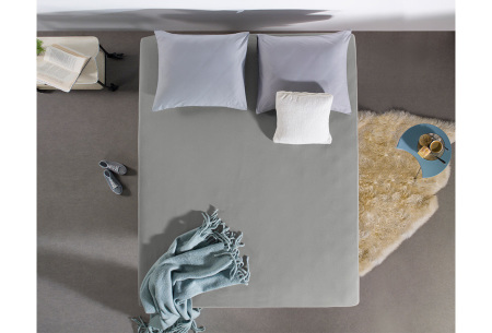 Dreamhouse hoeslakens | 100% hoogwaardig glad katoen in 6 kleuren grijs