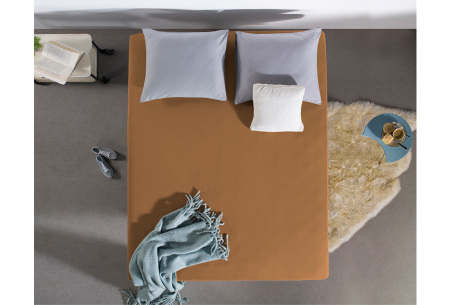 Dreamhouse hoeslakens | 100% hoogwaardig glad katoen in 6 kleuren taupe