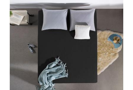 Dreamhouse hoeslakens | 100% hoogwaardig glad katoen in 6 kleuren zwart