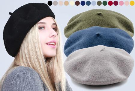 Baret in 16 kleuren | Fashionable muts voor een stijlvolle Parisienne look