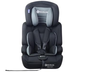 Kinderline autostoel | Met optimale ondersteuning voor hoofd, nek en lichaam Grijs
