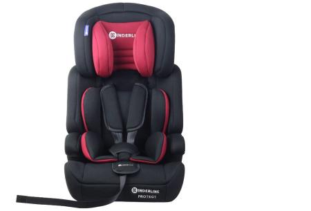Kinderline autostoel | Met optimale ondersteuning voor hoofd, nek en lichaam Rood