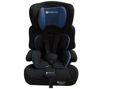 Kinderline autostoel | Met optimale ondersteuning voor hoofd, nek en lichaam Blauw
