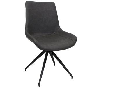 Oscar stoelen | Moderne design eetkamerstoel met stoere uitstraling antraciet