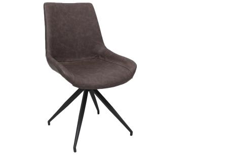 Oscar stoelen | Moderne design eetkamerstoel met stoere uitstraling bruin