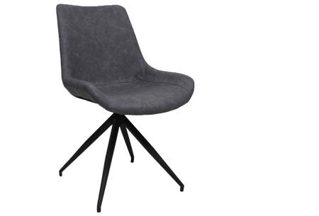 Oscar stoelen | Moderne design eetkamerstoel met stoere uitstraling blauw-grijs