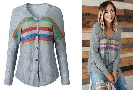 Loose fit v-neck shirt | Keuze uit 17 kleuren - Je favoriete nieuwe item!  A grijs