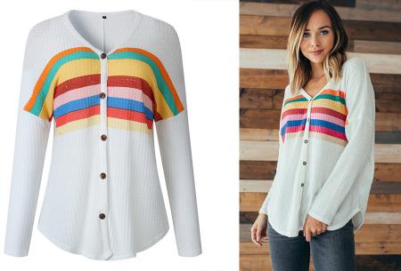 Loose fit v-neck shirt | Keuze uit 17 kleuren - Je favoriete nieuwe item!  A wit