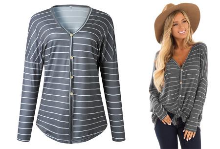 Loose fit v-neck shirt | Keuze uit 17 kleuren - Je favoriete nieuwe item!  B grijs