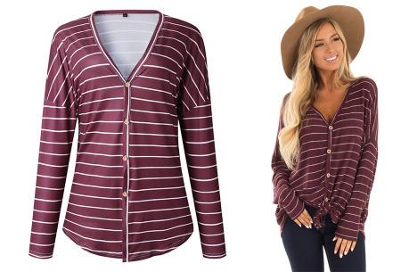 Loose fit v-neck shirt | Keuze uit 17 kleuren - Je favoriete nieuwe item!  B wijnrood