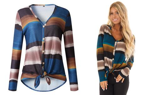 Loose fit v-neck shirt | Keuze uit 17 kleuren - Je favoriete nieuwe item!  C blauw