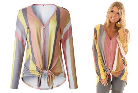 Loose fit v-neck shirt | Keuze uit 17 kleuren - Je favoriete nieuwe item!  C geel