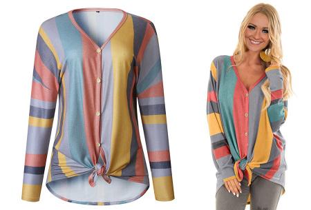Loose fit v-neck shirt | Keuze uit 17 kleuren - Je favoriete nieuwe item!  C oranje