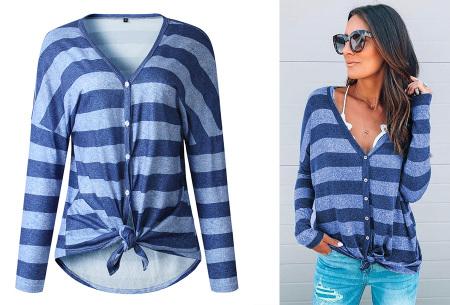 Loose fit v-neck shirt | Keuze uit 17 kleuren - Je favoriete nieuwe item!  D blauw