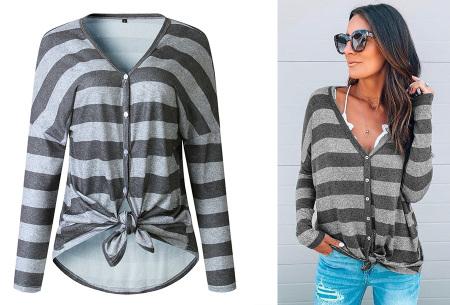 Loose fit v-neck shirt | Keuze uit 17 kleuren - Je favoriete nieuwe item!  D grijs