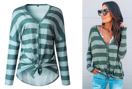 Loose fit v-neck shirt | Keuze uit 17 kleuren - Je favoriete nieuwe item!  D groen