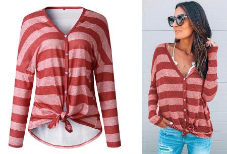 Loose fit v-neck shirt | Keuze uit 17 kleuren - Je favoriete nieuwe item!  D rood