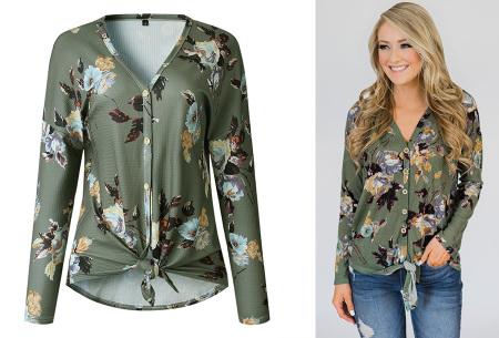 Loose fit v-neck shirt | Keuze uit 17 kleuren - Je favoriete nieuwe item!  E legergroen