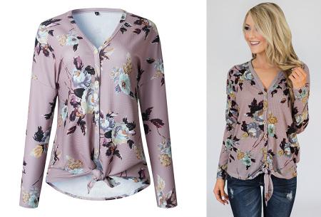Loose fit v-neck shirt | Keuze uit 17 kleuren - Je favoriete nieuwe item!  E lila