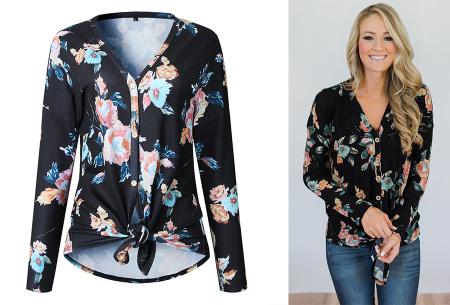 Loose fit v-neck shirt | Keuze uit 17 kleuren - Je favoriete nieuwe item!  E zwart