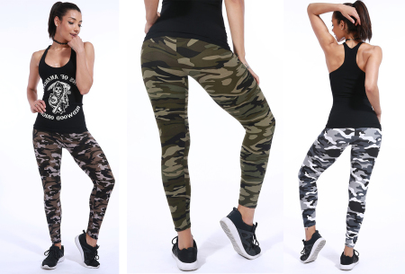 Camouflage legging nu in de sale met hoge korting
