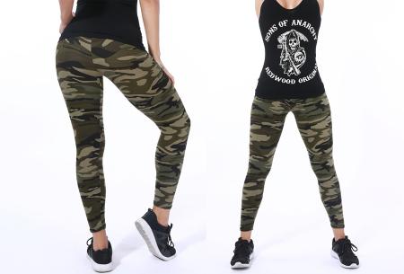 Camouflage legging | Trendy & comfortabele legging met legerprint in 7 uitvoeringen A